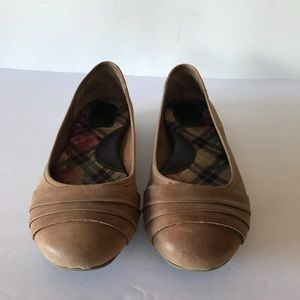 Born Brown Leather Driving Flats 7.5M